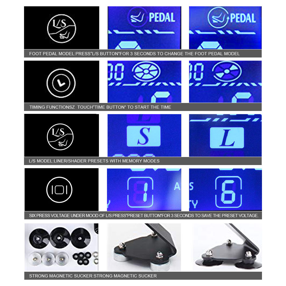 Image 3 - Tattoo Power Supply HP 2 UPGRADE Touch Screen TP 5 Intelligent Digital LCD Makeup Tattoo Machine Supplies set-in Tattoo Power Supply from Beauty & Health