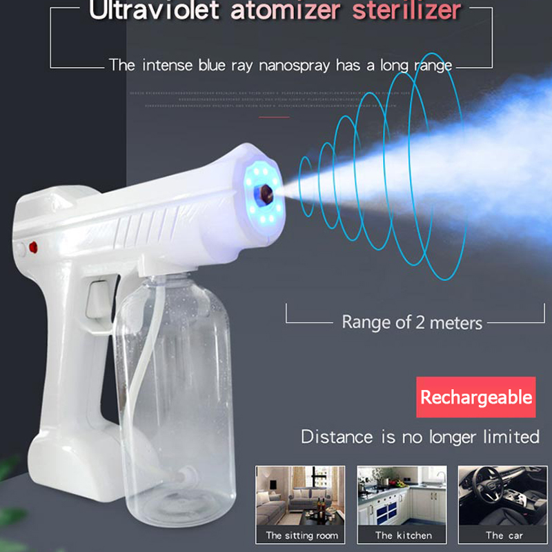 Battery Fogger Nano Office Atomizer Gun Sprayer Wireless Portable Rechargeable School Machine Ray Blue Electrostatic Chargeing