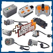 Technic parts compatible for LegoINGlys motor multi power functions tool servo blocks train engine xl motor PF model sets 88002