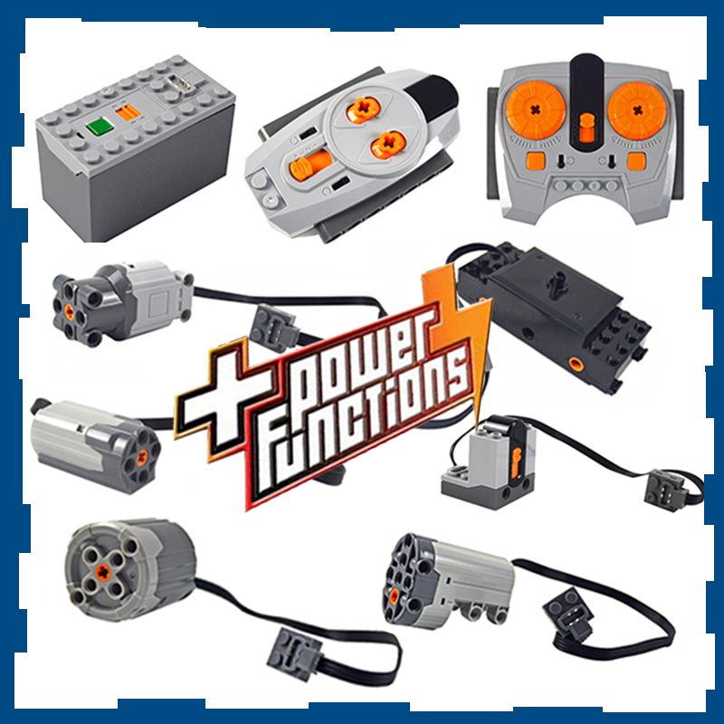 Technic Parts Compatible For Leduo Motor Multi Power Functions Tool Servo Blocks Train Engine Xl Motor PF Model Sets 88002