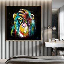 Абстрактное мышление обезьяна холст постеры и принты настенные