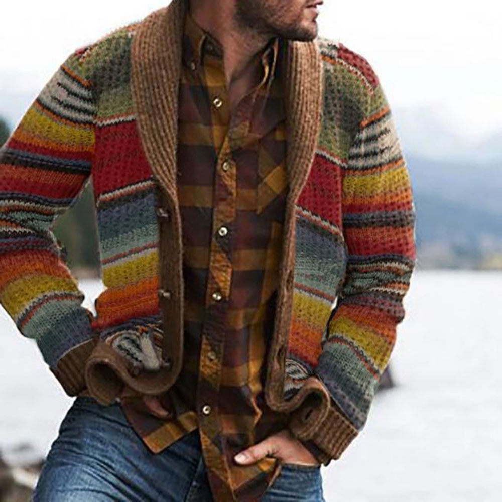Autumn Men's Sweater Hoodies Casual Long Sleeves Thickening Warm Trend Shirt Sweaters Jackets Classic Cardigan Sweater Coat Men 1
