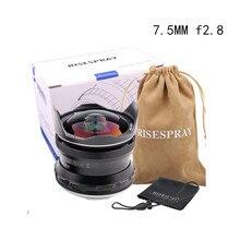 RISESPRAY 7.5mm f2.8 fisheye עדשת 180 APS C ידני קבוע עדשה עבור Canon EOS M הר CameraHot מכירה משלוח חינם J
