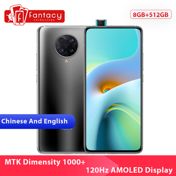 Перейти на Алиэкспресс и купить Новая китайская версия Xiaomi Redmi K30 Ultra 8 ГБ 512 Гб Смартфон MTK Dimensity 1000 + Восьмиядерный 6,67 дюйм120 Гц AMOLED дисплей