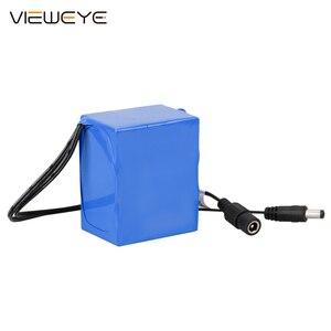 Image 5 - ViewEye pack de batterie Lithium 12V professionnel, avec indicateur 4500mAh/6400mAh pour détecteur de poisson, caméra vidéo de pêche sous marine
