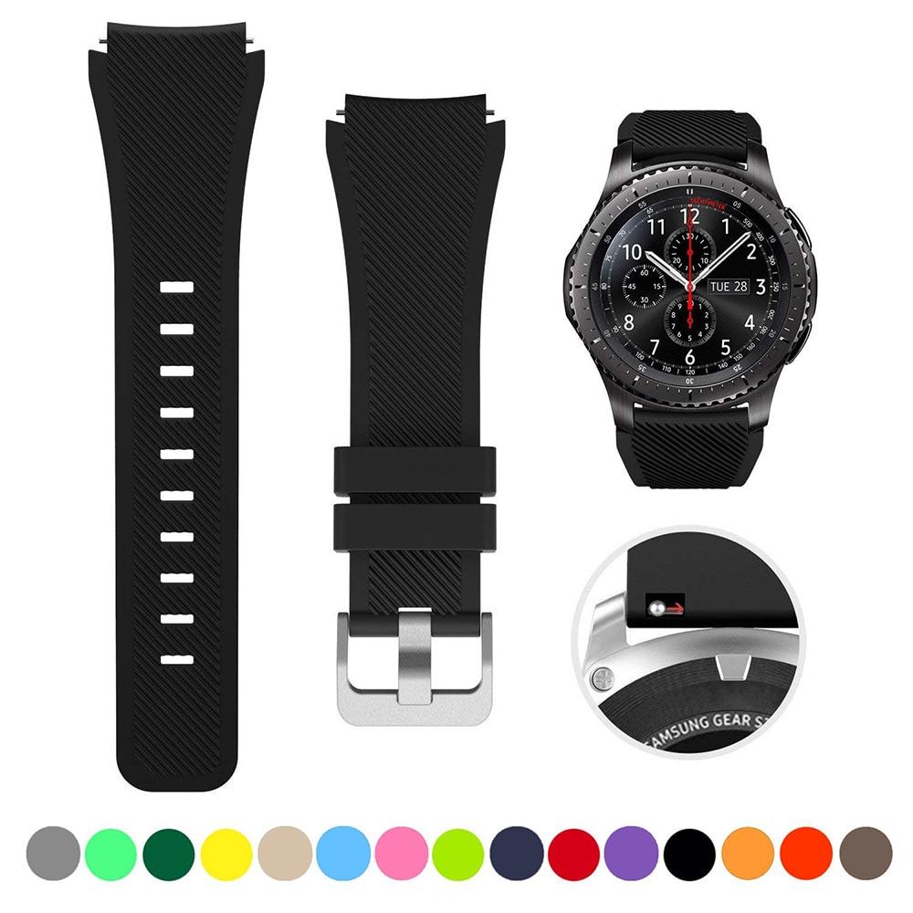 22Mm 20Mm Siliconen Band Voor Galaxy Horloge 46Mm 42Mm Sport Riem Voor Samsung Gear S3 Frontier/Classic Actieve 2 Huawei Horloge 2