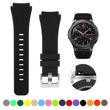 22mm 20mm banda de silicona para Samsung Galaxy ver 46mm 42mm deportes correa para Samsung Gear S3 frontera/activo 2 Huawei Watch 2