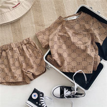 2PCS Fashion Girls Clothing Sets Summer Kid Causal Outfits Classic Party Birthday Holiday for 1-7Ys 2021 Children Wear
