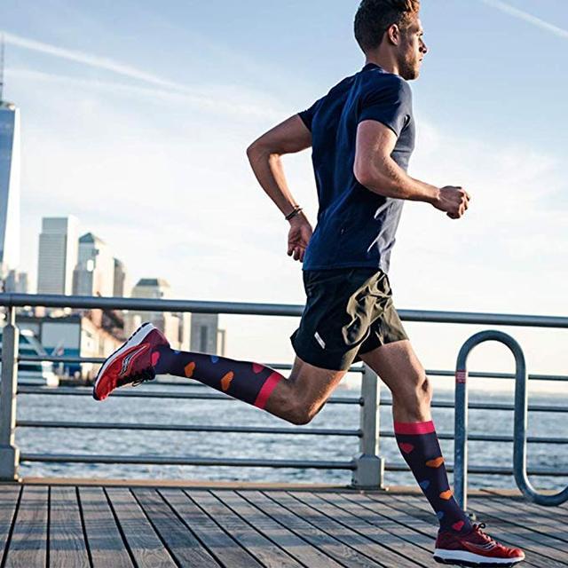 40 estilos de qualidade unisex meias de compressão ciclismo meias apto para edema, diabetes, varizes, correndo maratona meias 5