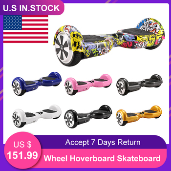 Wheel Hoverboard Skateboard 6.5 Inch Electric Skateboard Classic Double Charging Head Twist Car Smart Self Balancing Scooter цена 2017