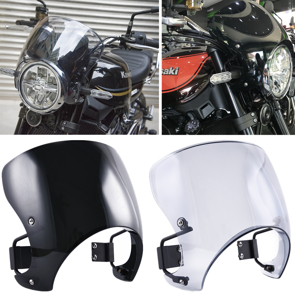 Z 900RS Windscreen Windshield Fairing Wind Deflector For Kawasaki Z900RS Cafe Racer 2018 2019 2020 Z 900 RS Motocycle Part Smoke