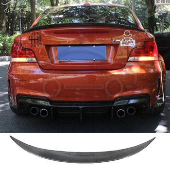 Fit for BMW 1 series 120i E82 E88 carbon fiber Rear Wings Trunk Lip Spoiler image