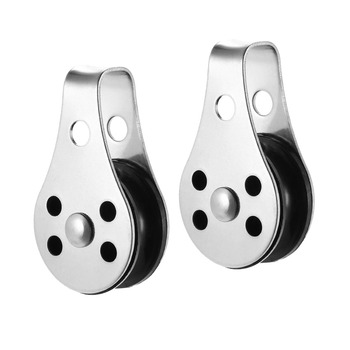 2pcs Marine Grade 316 Stainless Steel Block Tackle Pulley Boat Nautical Tool