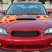 Use for Subaru Legacy Racing Grills 2005 2007 Year real carbon fibre front center racing grille cover accessorie body kit