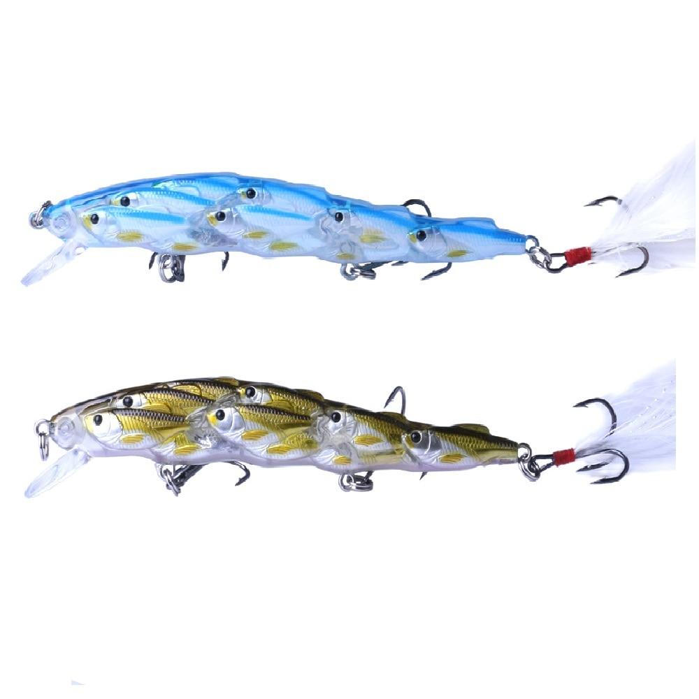1pc 11.5cm 15.5g múltiplo baitfish isca de pesca grupo iscas wobblers disco artificial nadar minnow crankbait pesca
