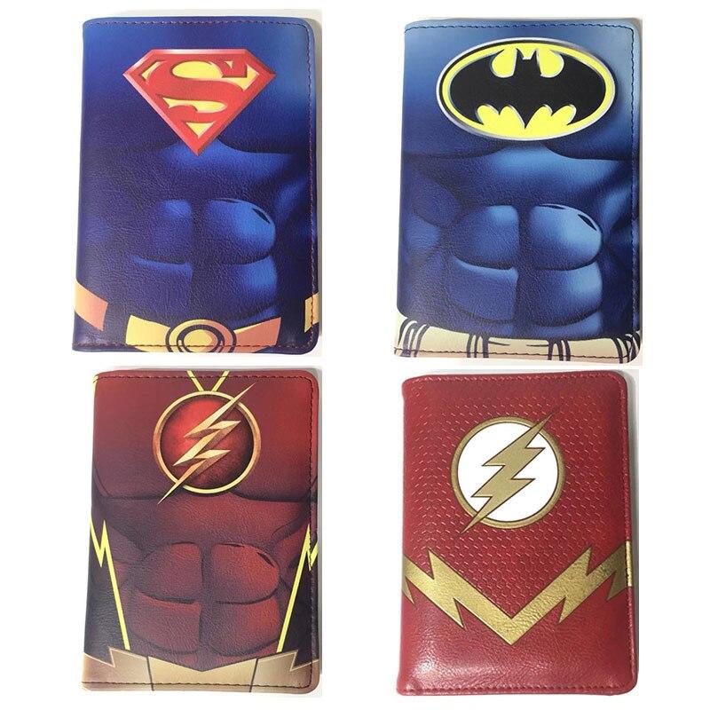 Marvel Batman Superman Deadpool Passport Cover Holder ID Card Storage Folder Bag Travel Accessories Men Women Boys Girls Gift