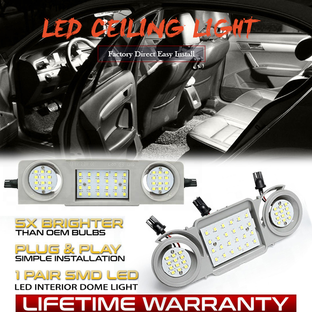 LED Car Interior Dome Light Roof Reading Lamps For Skoda Octavia 5E3 5E5 Superb 3T4 Super 3T5 Yeti Seat Alhambra 710 Leon 5F/5F1