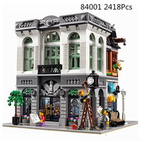 15001 Creator Expert BRICK BANK with City 2413 Pcs Model Building Blocks Gifts Toys Creative Legoinglys City Construction 10251