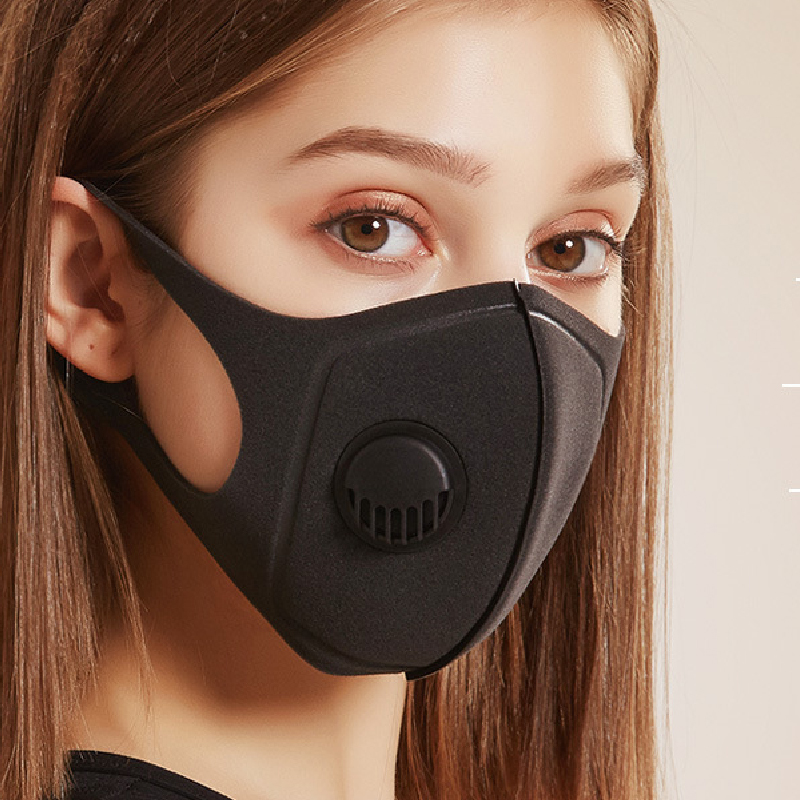 Cotton Dust Mask Anti-Dust Pollution Face Mouth Mask Breathable Breath Valve Protection Masks Black Filter High Quality Mask