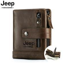 2020 100% Genuine Leather Men Wallet PORTFOLIO Male Cuzdan Small Portomonee Perse Coin Purse Fashion Money Bag for Boys