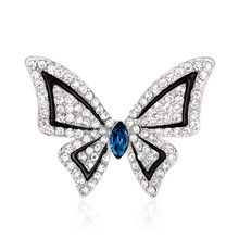 South Korea Korean version of boutique alloy rhinestone brooch shawl scarf buckle Taobao hot butterfly geometric