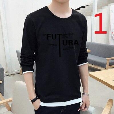 Che Basa La Camicia a Maniche Lunghe da Uomo Autunno E L'inverno Più Velluto Strisce di Tendenza Sottile Coreano T Shirt in Cotone - 2