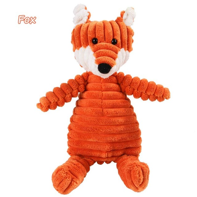 Corduroy Dog Toys for Small Large Dogs Animal Shape Plush Pet Puppy Squeaky Chew Bite Resistant Toy Pets Accessories Supplies 14