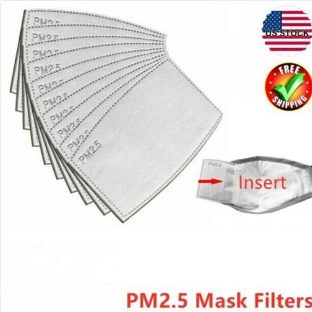 50x PM2.5 Disposable Dustproof Mask Gasket Pad Replacement 5 Layer Mask Pad Mat