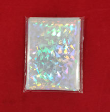50/100pcs Broken Gemstone Glass Laser Flashing Card Film Holographic Idol Photo Card Sleeves For YGO Ultra Super Card Protector