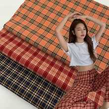 50cm*145cmThe New Spring and Summer Women's Dress Pants Suit Plaid Fabric Color Plaid Candy-Colored Yarn-Dyed Plaid Surface plaid