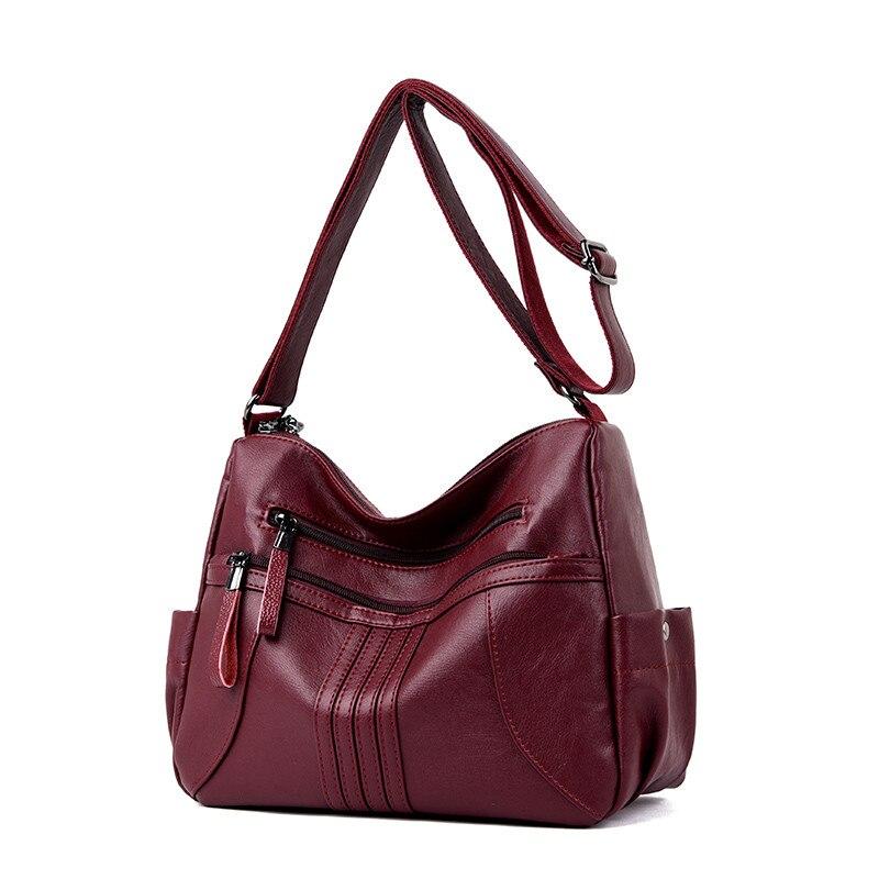 Image 3 - 2019 женская сумка через плечо, Роскошная большая сумка из мягкой кожи, женские сумки мессенджеры, большие женские сумки, дизайнерская брендовая сумка bolsa feminina-in Сумки с ручками from Багаж и сумки