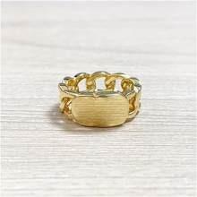 2020 nova trançado cobre anel de casamento cd anel de ouro para as mulheres simples moda amor boêmio jóias para mulher com caixa