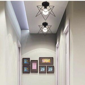 Image 4 - シーリングライト現代の天井ランプメタルロフト装飾ランプ工業用スタイル家庭の照明の寝室キッチンリビングルーム照明器具