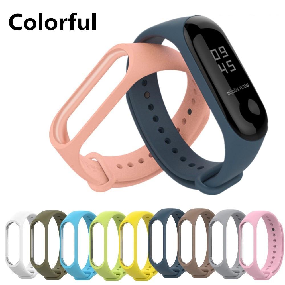 Bracelet For Xiaomi Mi Band 3 4 Sport Strap Watch Silicone Wrist Strap For Xiaomi Mi Band 3 4 Bracelet Strap Smart Accessories
