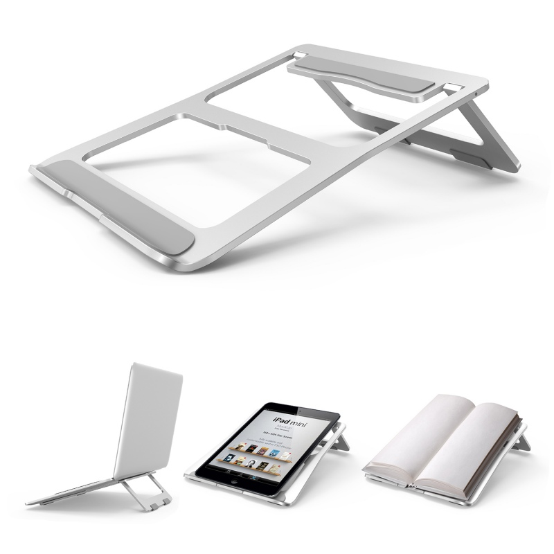 Portable Laptop <font><b>Stand</b></font> Foldable <font><b>Notebook</b></font> Holder Aluminum Alloy Computer <font><b>Cooling</b></font> Bracket For Macbook Dell Lenovo Acer ASUS image