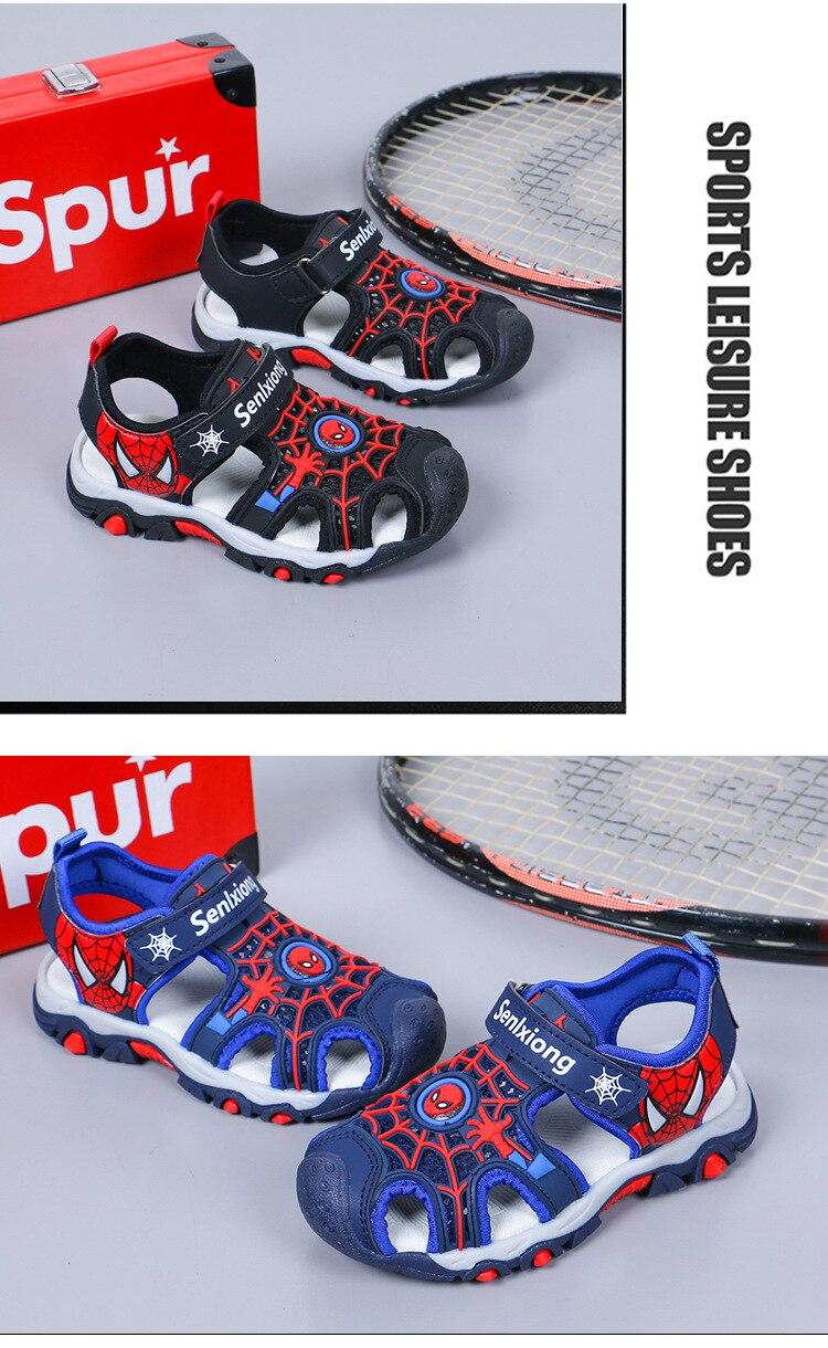 Kids Sandals Closed Toe Spiderman