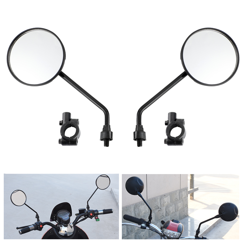 DERI Universal Motocycle Mirrors with 22mm Handle Bar Mirrors Mount Handlebar Bar End 10mm Screws Motorcycle Side Mirrors