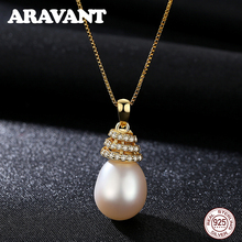 High Quality 10MM Natural Freshwater Pearl Pendant Necklace For Women 3 Colors Jewelry 45cm