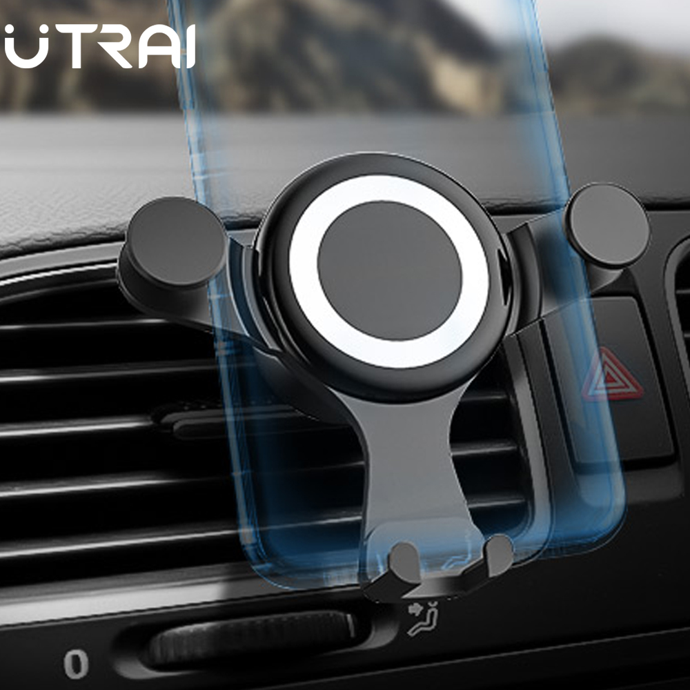 UTRAI Car Phone Holder For Mobile Smartphone Support In Car Cell Phone Stand For IPhone 11 Auto Vent Mount Car Holder Stand