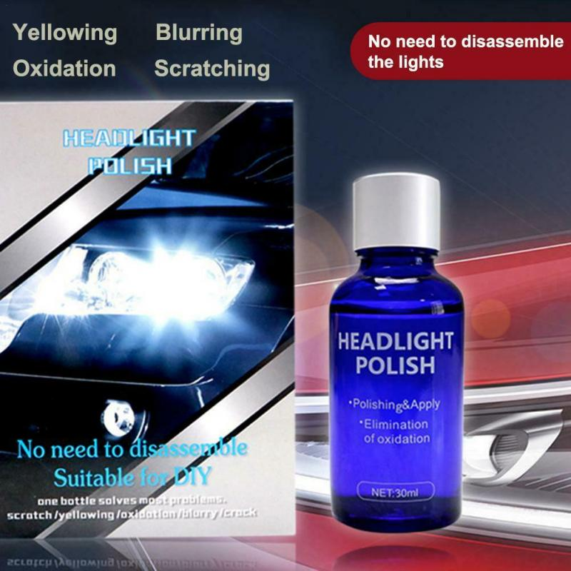 10/30ML 9H Auto headlight Repair Agent Hardness Car  Light Repair Hydrophobic Glass Coating Ceramic Coat Super Hydrophobic Agent|Waxing Sponge|   - AliExpress