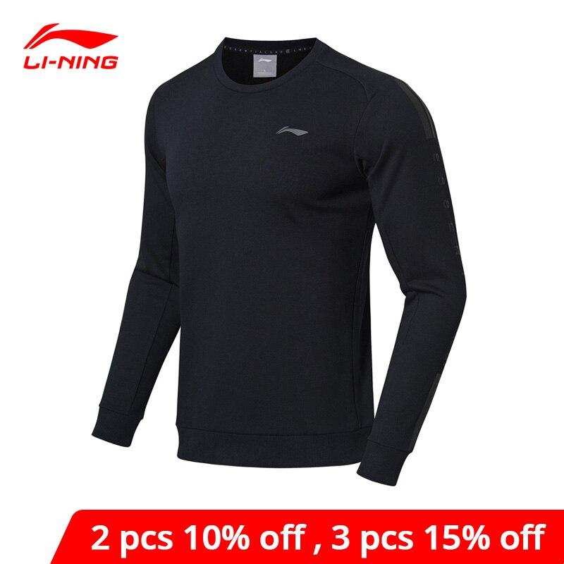 Li-Ning Men Training Series Sweater Regular Fit 60% Cotton 40% Polyester LiNing Li Ning Sports Tops Sweaters AWDN871 MWW1434