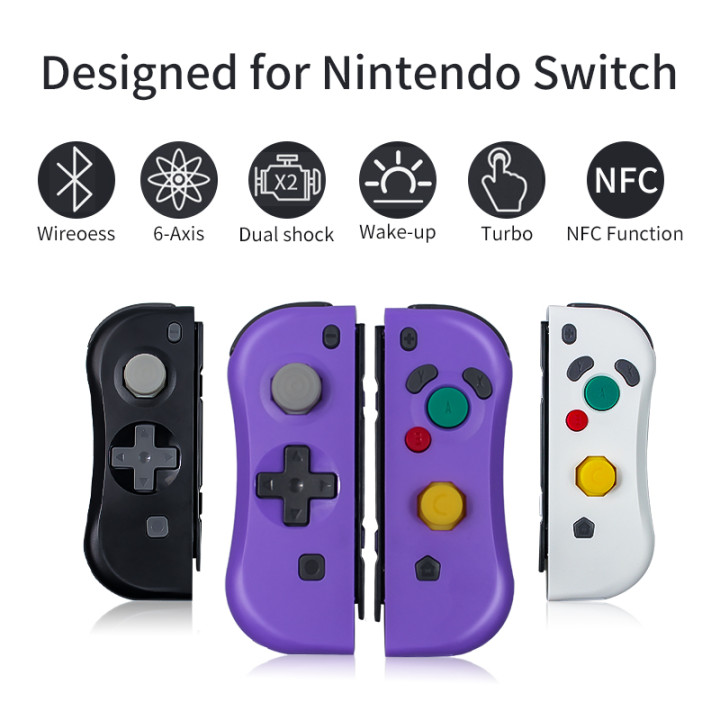 Aolion Bluetooth Wireless Controller for Nintend Switch Left and Right Joycon with NFC Remote Function