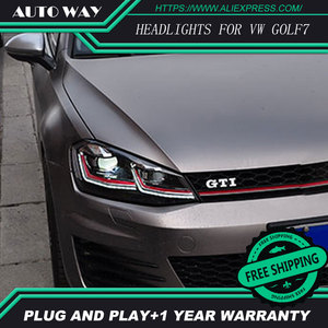 Image 5 - Car Styling H7 Head Lamp case for VW Golf7 Golf 7 Headlights Golf 7 MK7 2014 2015 LED Headlight DRL Lens Double Beam Bi Xenon