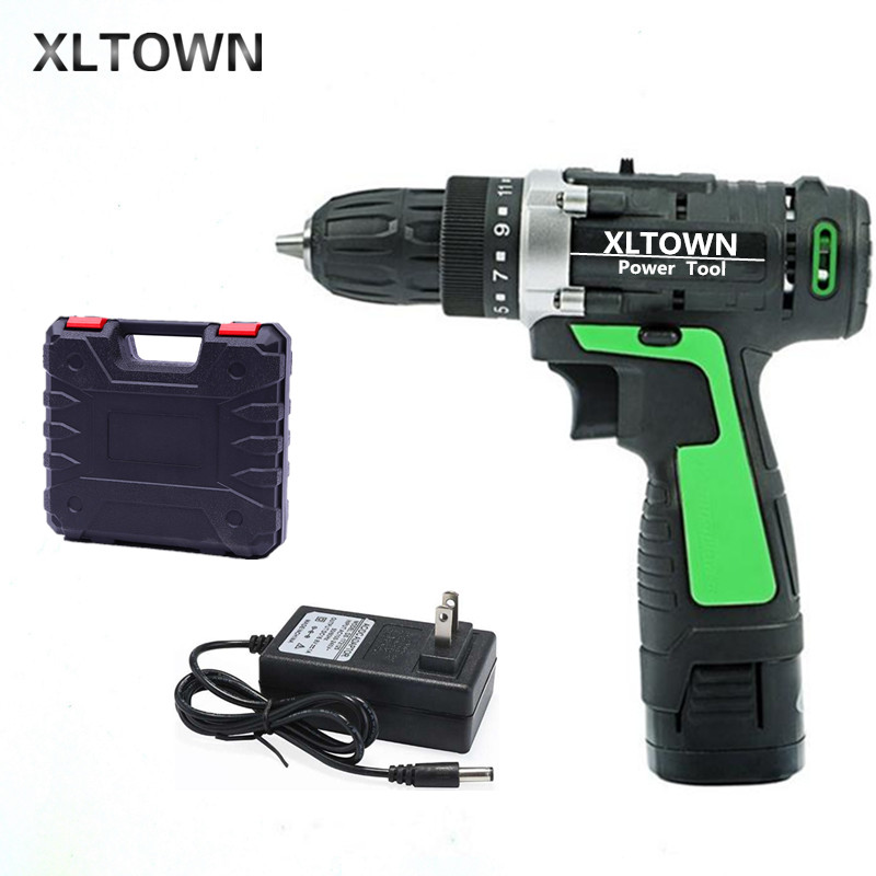XLTOWN new 16.8v Electric Drill Electric Screwdriver Rechargeable lithium battery Two-Speed Electric Screwdriver power tools