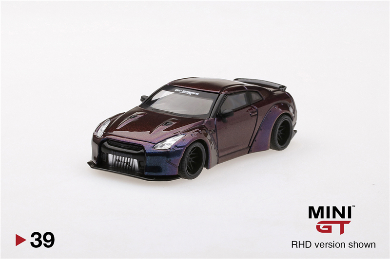 MINI GT 1:64 LB WORKS Nissan Skyline GTR R35 Magic Purple Die-Cast Model Car