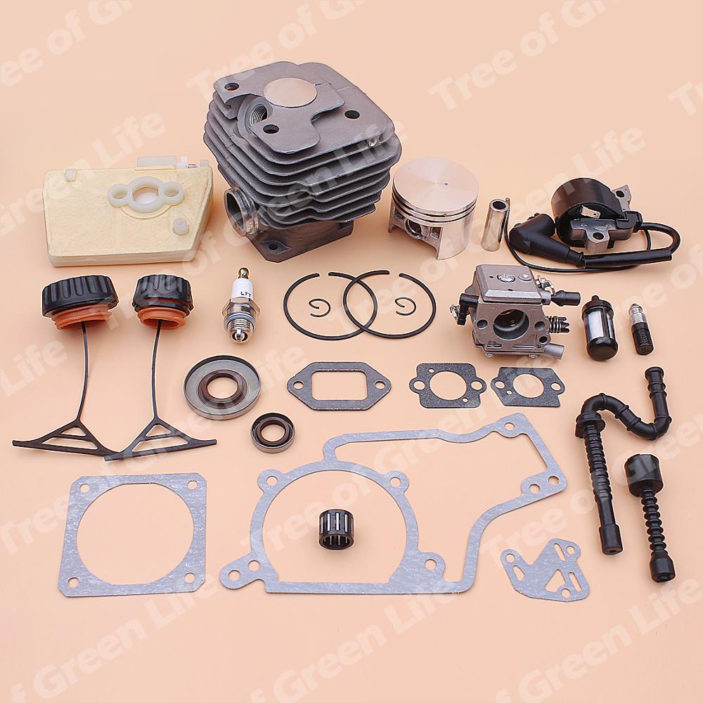 Set Kit Stihl 020 Cap Piston For Air Fuel Filter Gasket MS380 Carburetor 52mm Oil Coil Ignition Seal 1202 Cylinder 1119 038 Line