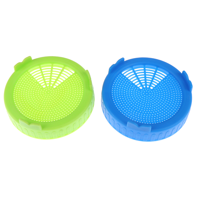 Silicone 2 Sprouting Lid Food Grade Mesh Sprout Cover Kit Seed Growing Germination Vegetable Sealing Ring Lid For Jar
