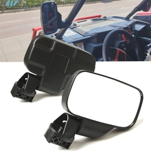 """Universal UTV Rear View mirror Side Mirror mirror with 1.75""""/2"""" Roll Bar Cage For Arctic Cat Prowlers with Round Cage 2014 2019"""