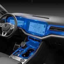 Lsrtw2017 transparente gps navegação tela interior do carro engrenagem anti-risco película protetora para volkswagen touareg 2019 2020 vw