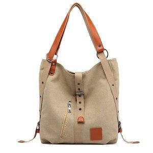 Image 1 - 여성 캔버스 토트 패션 싱글 숄더 가방 어깨 Crossbody 가방 핸드백과 지갑 Ladys 손 가방 여자 2020 새로운